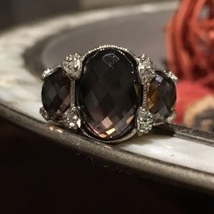 Judith Ripka Purple Hematite Ring